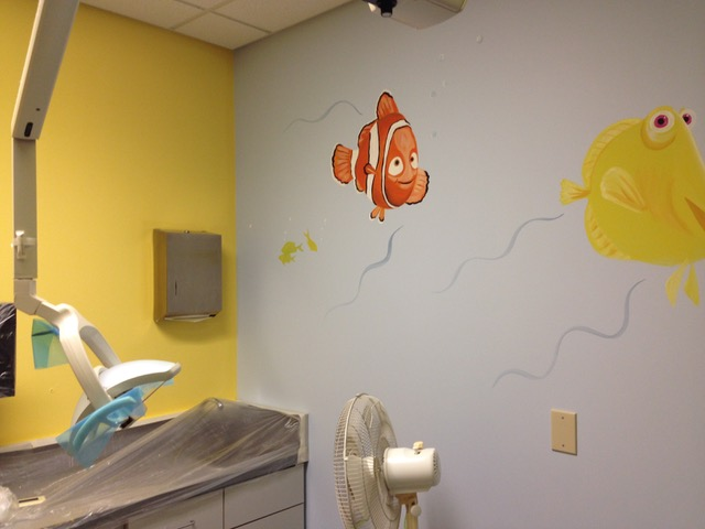 clown fish on the wall